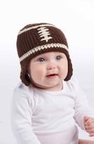Mud Pie Infant Boy's Knit Football Hat - Brown