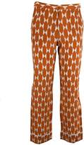 Tory Burch Printed Cropped Trousers