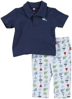 Magnificent Baby 'Nantucket' Polo Shirt & Pants Set (Baby) - Navy-12 Months