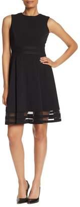 Calvin Klein Fit & Flare Illusion Hem Dress