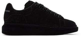 Alexander McQueen Black Suede Oversized Sneakers