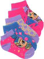 Nickelodeon Girls Shimmer & Shine Kids No Show Socks - 5 Pack