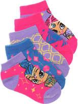 Nickelodeon Shimmer & Shine Kids No Show Socks - 5 Pack - Girl's
