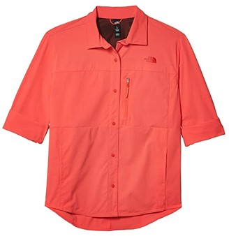 The North Face Outdoor Trail Long Sleeve Shirt (Cayenne Red) Women's Clothing