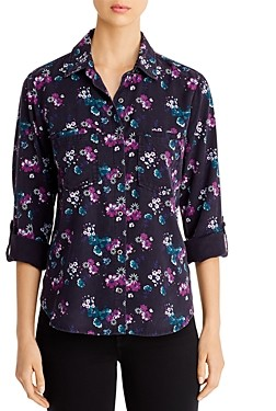 BILLY T Floral Button-Back Shirt