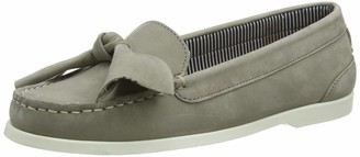 Chatham Women's Maya Bow Nubuck Leather Boat Shoes