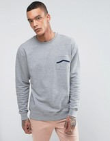 Vans Side Stripe Pocket Crew Sweatshirt In Gray VA391S02F