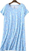 Amoy-Baby Women's Comfortable Cotton Floral Nightgown Casual Nights XTSY208-L