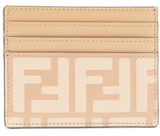 Fendi F Is Embossed-leather Cardholder - Beige