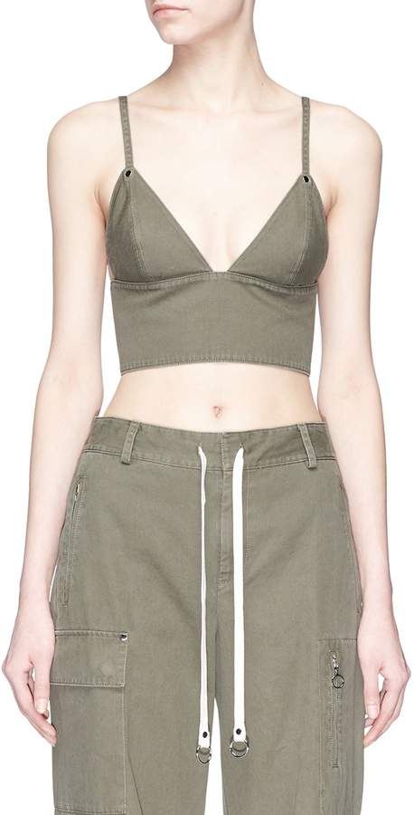 Alexander Wang Cotton twill cropped top