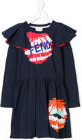 Fendi Bag Bug ruffled dress