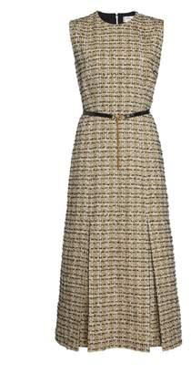 Victoria Beckham Front Pleat Midi Dress
