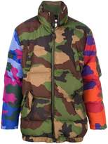 Moschino padded camouflage coat