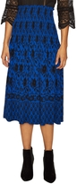 Plenty by Tracy Reese Women's Printed Smocked Waist A Line Skirt