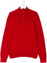 Ralph Lauren zipped collar jumper