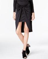 Kensie Draped Knot-Detail Skirt