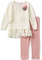 Bonnie Jean Bonnie Baby Baby Girls Newborn-24 Months Textured Sweater Top & Knit Leggings Set