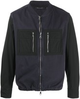 Neil Barrett long contrast sleeve bomber jacket