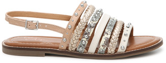 Crown Vintage Women's Pavla Sandals Multi Metallics Size 5 Faux Leather From Sole Society