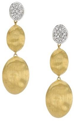 Marco Bicego Siviglia 18K Gold & Diamond Hand Engraved Large Three-Drop Earrings