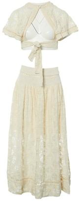 Zimmermann Ecru Silk Skirt for Women