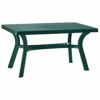 "Red Barrel Studio Snake River Rectangular 29"" Table Finish: Green, Table Size: 55"""