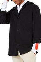 Topman Men's Hooded Overshirt Jacket