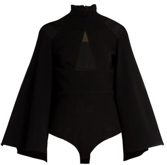 Balmain Semi-sheer Extended-hem Top - Black