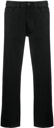 Prada Logo Plaque Straight-Leg Jeans