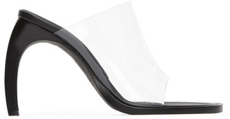 Ann Demeulemeester Black and Transparent PVC Heeled Sandals