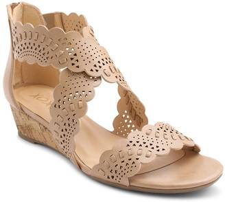 XOXO Amarissa Perforated Wedge Sandal