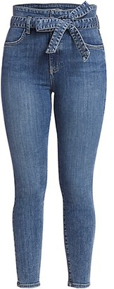 Alice + Olivia Jeans Good Wrap Waist High-Rise Skinny Jeans