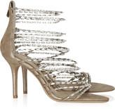 Jimmy Choo Lauren diamanté and suede sandals