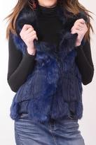 love token Blue Fur Vest