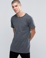 Selected Longline T-Shirt in Gray