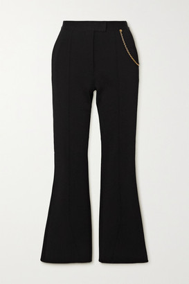 Givenchy Chain-embellished Woven Flared Pants - Black