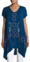 Johnny Was Willamy Embroidered Georgette Blouse, Plus Size