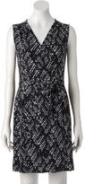 Apt. 9 Women's Print Faux-Wrap Dress