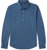 Loro Piana Mélange Cotton Polo Shirt