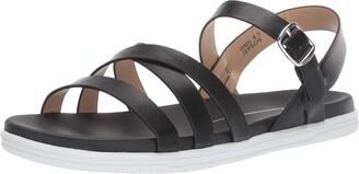 Report Women's Jepson Flat Sandal Black 8 M US