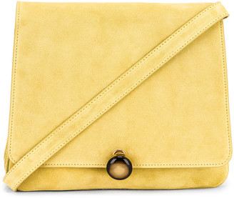 BY FAR Margot Suede Leather Bag in Yellow   FWRD