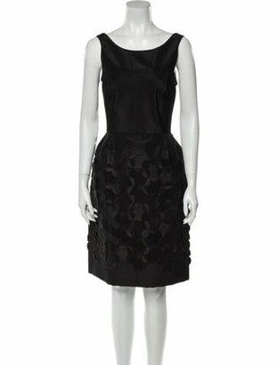 Oscar de la Renta 2007 Knee-Length Dress w/ Tags Black