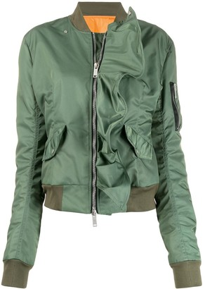 Unravel Project zipped bomber jacket