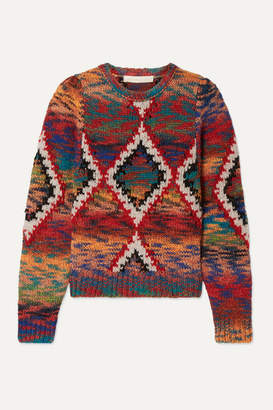 Vanessa Bruno Morgane Jacquard-knit Sweater - Red