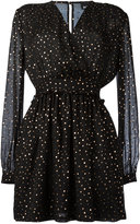 Just Cavalli longsleeved polka dot dress - women - Silk/Viscose - 38