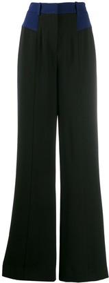 Dvf Diane Von Furstenberg Crepe Wide-Leg Trousers