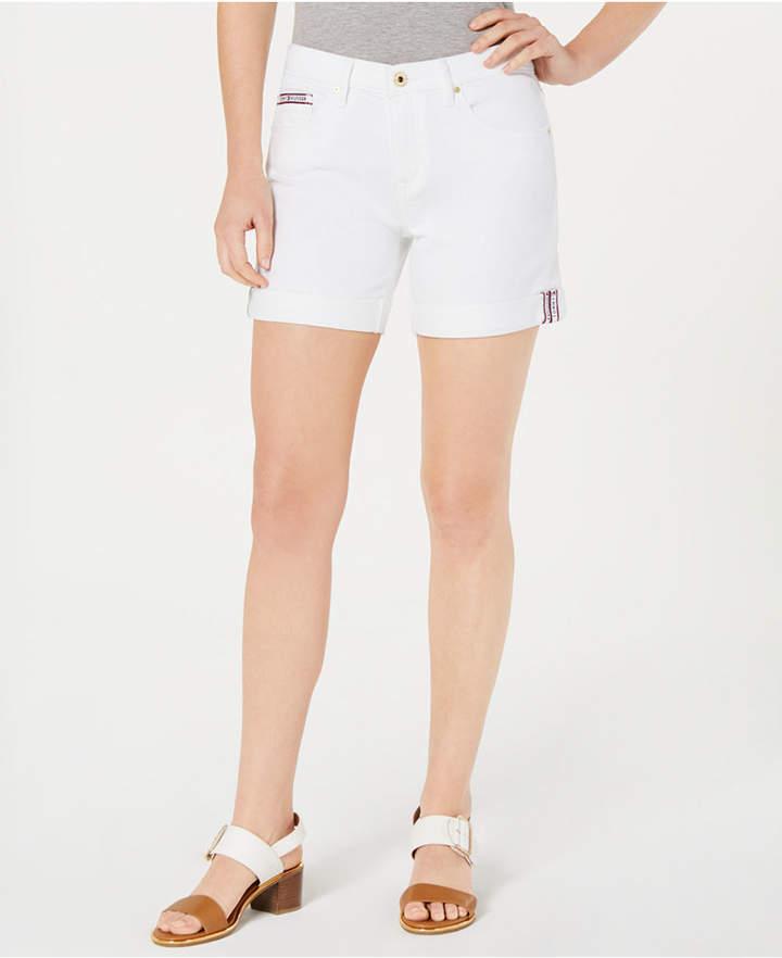 Tommy Hilfiger White Denim Shorts