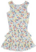 Splendid Girls' Printed Ruffle Dress - Big Kid