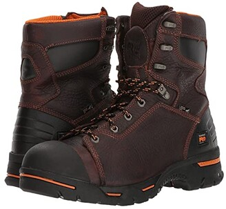 Timberland Endurance PR 8 Steel Toe (Briar) Men's Work Lace-up Boots