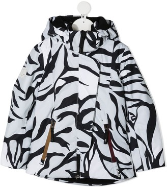Molo Zebra Stripe Zip-Up Jacket